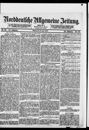 Norddeutsche allgemeine Zeitung vom 21.06.1899