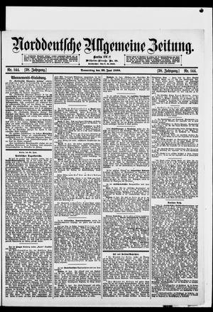 Norddeutsche allgemeine Zeitung vom 22.06.1899