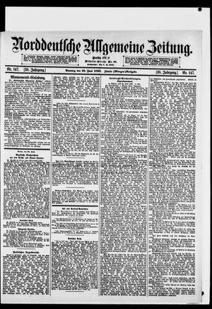 Norddeutsche allgemeine Zeitung vom 25.06.1899