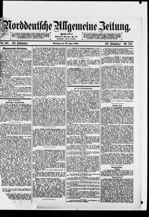 Norddeutsche allgemeine Zeitung vom 27.06.1899
