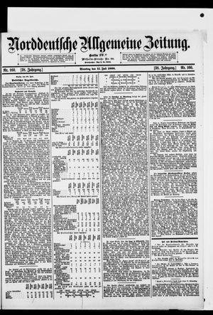 Norddeutsche allgemeine Zeitung vom 11.07.1899