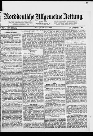 Norddeutsche allgemeine Zeitung vom 10.01.1900
