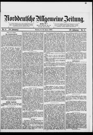 Norddeutsche allgemeine Zeitung vom 14.01.1900