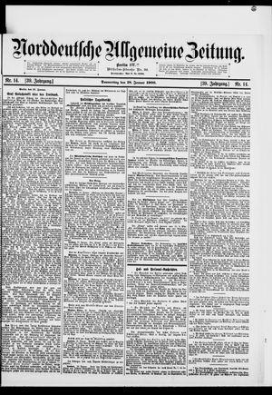 Norddeutsche allgemeine Zeitung vom 18.01.1900