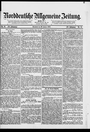 Norddeutsche allgemeine Zeitung vom 20.01.1900