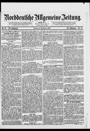 Norddeutsche allgemeine Zeitung vom 23.01.1900