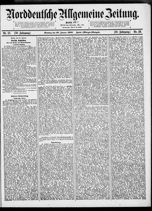 Norddeutsche allgemeine Zeitung vom 28.01.1900