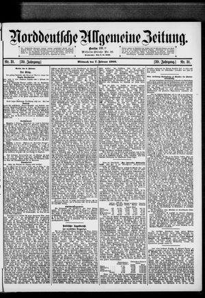 Norddeutsche allgemeine Zeitung on Feb 7, 1900