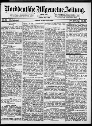 Norddeutsche allgemeine Zeitung vom 10.02.1900
