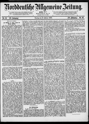 Norddeutsche allgemeine Zeitung vom 13.02.1900