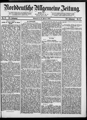 Norddeutsche allgemeine Zeitung vom 14.02.1900