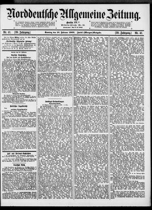 Norddeutsche allgemeine Zeitung vom 18.02.1900