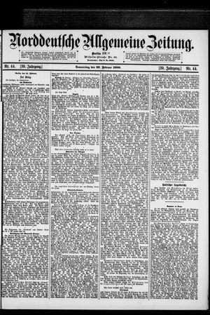 Norddeutsche allgemeine Zeitung vom 22.02.1900