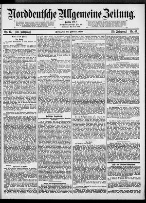 Norddeutsche allgemeine Zeitung vom 23.02.1900