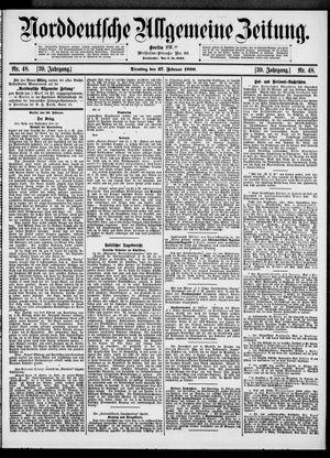 Norddeutsche allgemeine Zeitung vom 27.02.1900