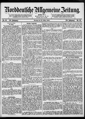 Norddeutsche allgemeine Zeitung vom 13.03.1900