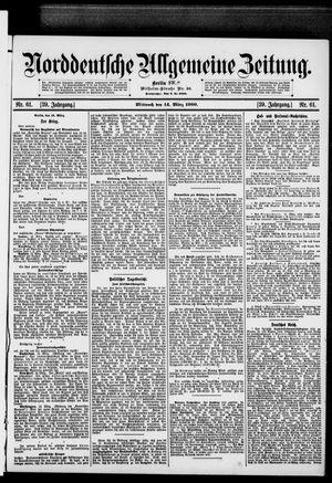 Norddeutsche allgemeine Zeitung vom 14.03.1900