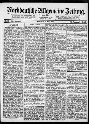 Norddeutsche allgemeine Zeitung vom 21.03.1900