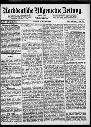 Norddeutsche allgemeine Zeitung vom 24.03.1900