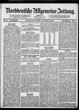 Norddeutsche allgemeine Zeitung vom 25.03.1900