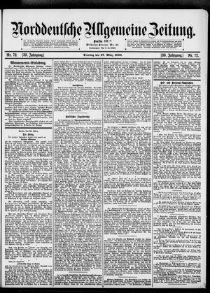 Norddeutsche allgemeine Zeitung on Mar 27, 1900