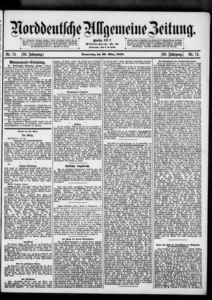 Norddeutsche allgemeine Zeitung vom 29.03.1900