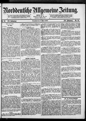 Norddeutsche allgemeine Zeitung vom 07.04.1900