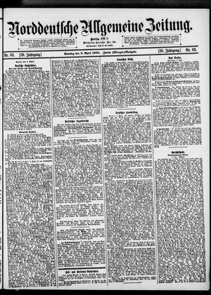 Norddeutsche allgemeine Zeitung vom 08.04.1900