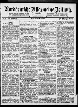 Norddeutsche allgemeine Zeitung vom 10.04.1900