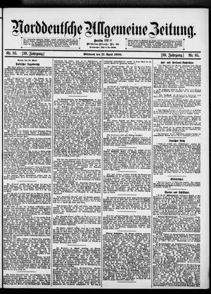 Norddeutsche allgemeine Zeitung vom 11.04.1900