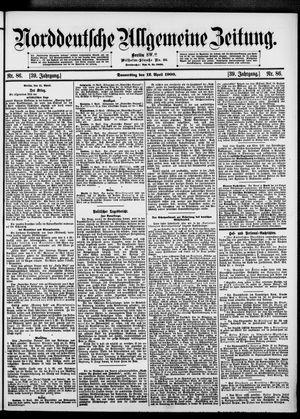 Norddeutsche allgemeine Zeitung vom 12.04.1900