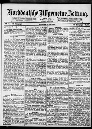 Norddeutsche allgemeine Zeitung vom 15.04.1900