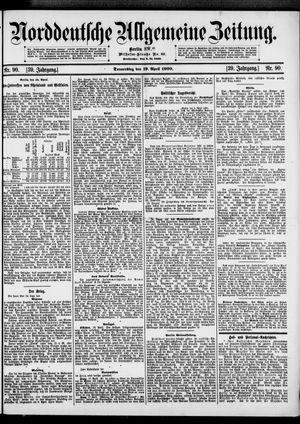 Norddeutsche allgemeine Zeitung vom 19.04.1900