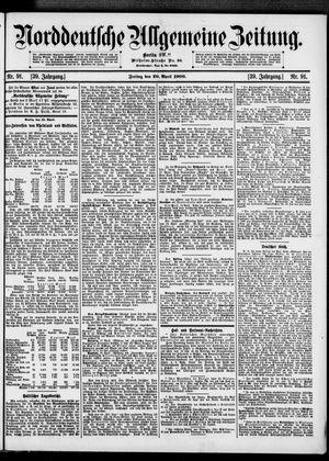 Norddeutsche allgemeine Zeitung vom 20.04.1900