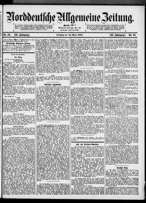 Norddeutsche allgemeine Zeitung vom 24.04.1900