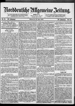 Norddeutsche allgemeine Zeitung vom 25.04.1900