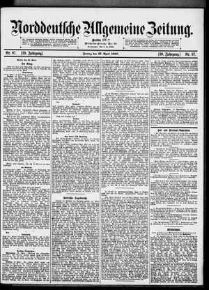 Norddeutsche allgemeine Zeitung vom 27.04.1900