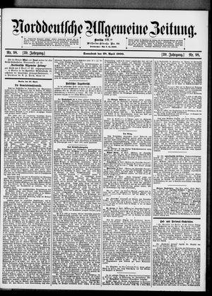 Norddeutsche allgemeine Zeitung vom 28.04.1900