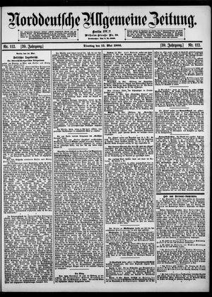 Norddeutsche allgemeine Zeitung vom 15.05.1900