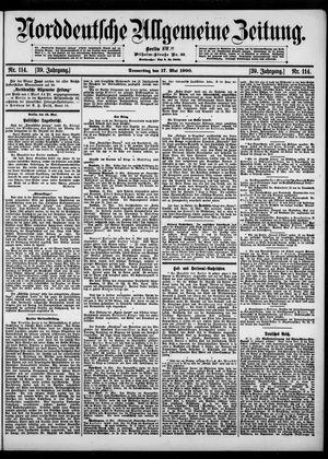 Norddeutsche allgemeine Zeitung vom 17.05.1900
