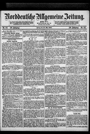Norddeutsche allgemeine Zeitung vom 18.05.1900