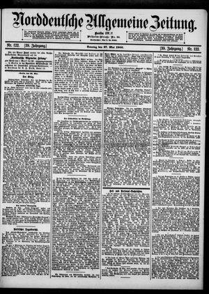 Norddeutsche allgemeine Zeitung vom 27.05.1900