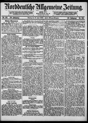 Norddeutsche allgemeine Zeitung vom 10.06.1900