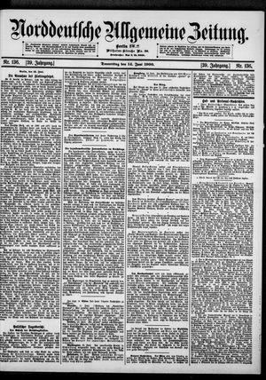 Norddeutsche allgemeine Zeitung vom 14.06.1900