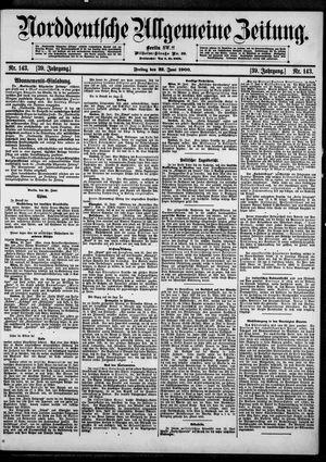 Norddeutsche allgemeine Zeitung vom 22.06.1900