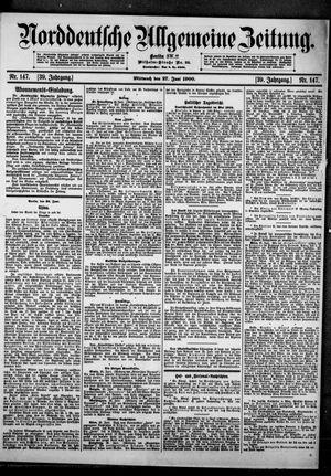 Norddeutsche allgemeine Zeitung vom 27.06.1900