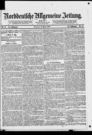 Norddeutsche allgemeine Zeitung vom 16.01.1903