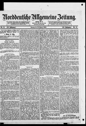 Norddeutsche allgemeine Zeitung vom 18.01.1903