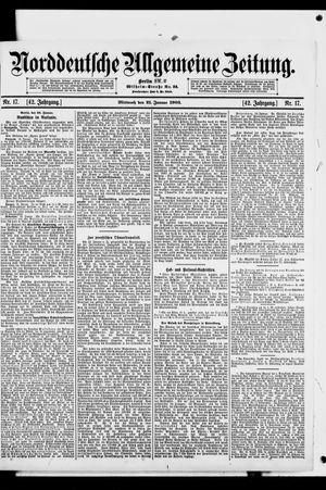 Norddeutsche allgemeine Zeitung vom 21.01.1903
