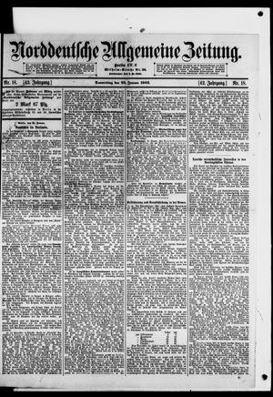 Norddeutsche allgemeine Zeitung vom 22.01.1903